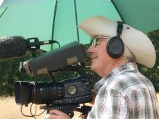 Jean-Claude RAOUL pendant le tournage du film Courjumelle